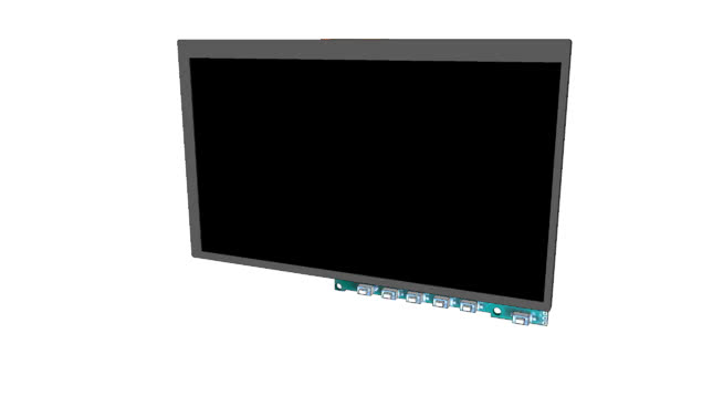 3D model of 7 inch LCD TFT FPV screen